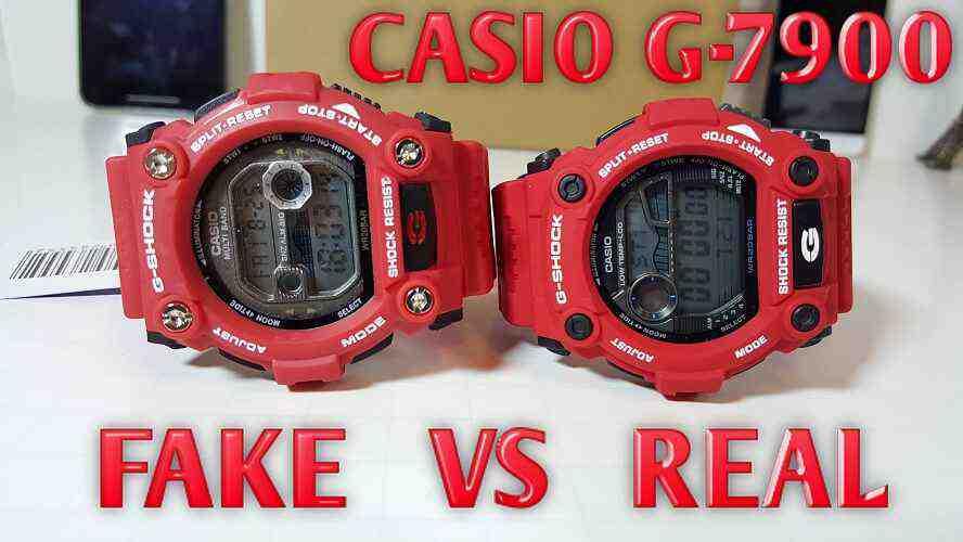 G-Shock Original vs Tiruan