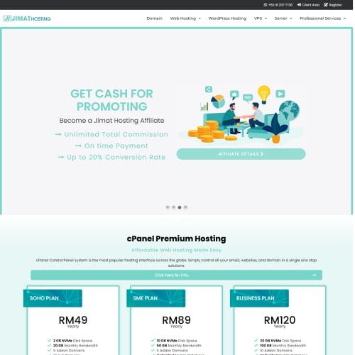 Jimat Hosting Web Hosting Malaysia